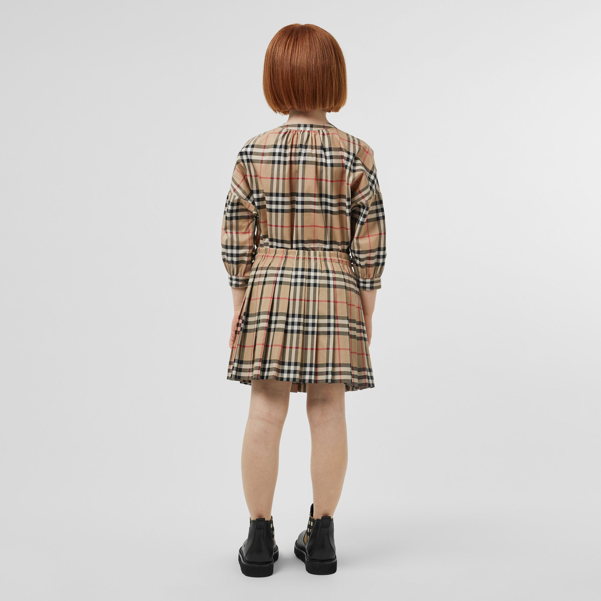 Vintage Check Pleated Skirt in Archive Beige | Burberry - 3