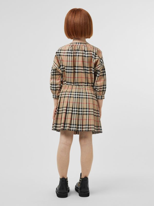 Vintage Check Pleated Skirt in Archive Beige | Burberry United Kingdom - cell image 2