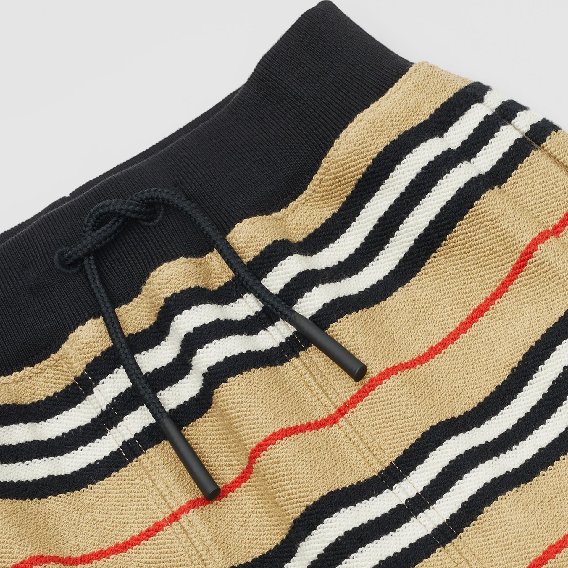 Icon Stripe Cotton Trackpants in Archive Beige - Children | Burberry United Kingdom - gallery image 1