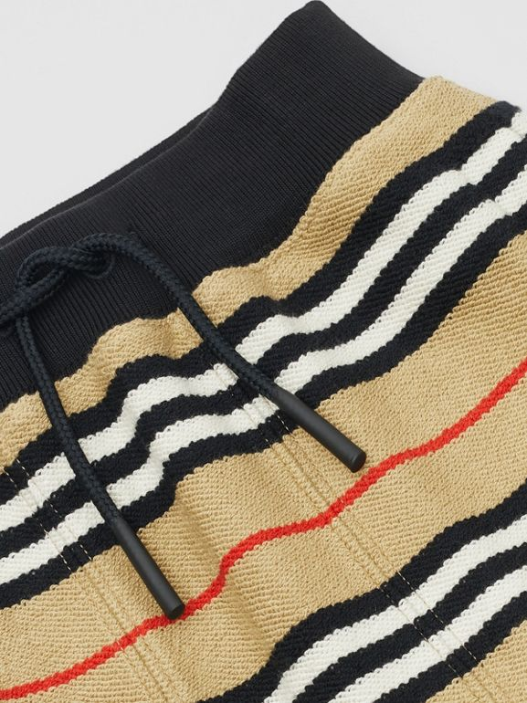 Icon Stripe Cotton Track Top in Archive Beige - Children | Burberry - cell image 1