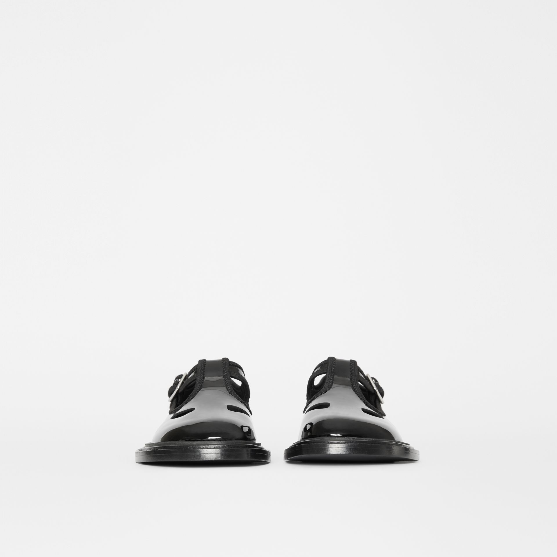 Patent Leather T-bar Shoes in Black - Women | Burberry United Kingdom - gallery image 3
