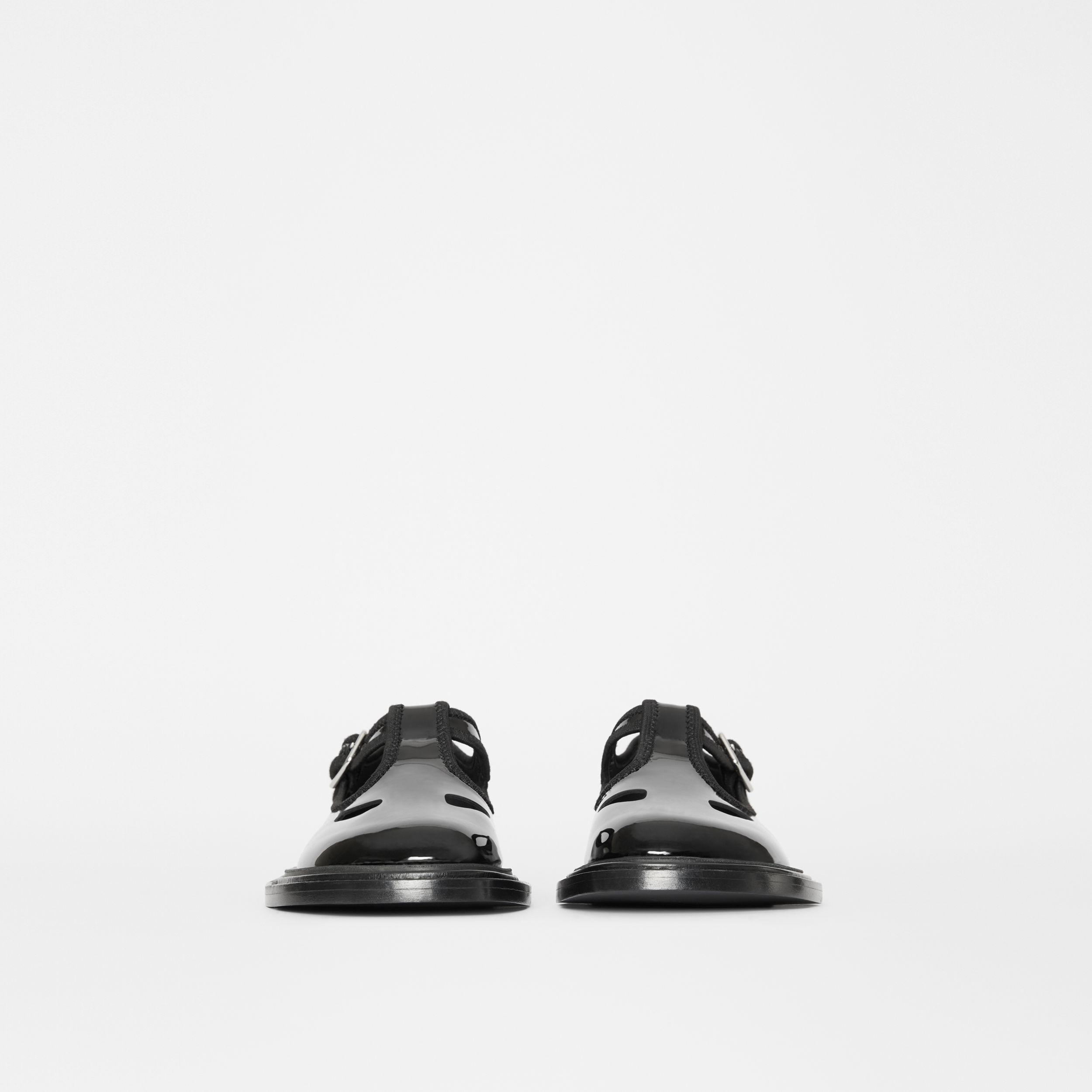 Patent Leather T-bar Shoes in Black - Women | Burberry Singapore - 4