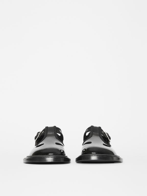Patent Leather T-bar Shoes in Black - Women | Burberry United Kingdom - cell image 3