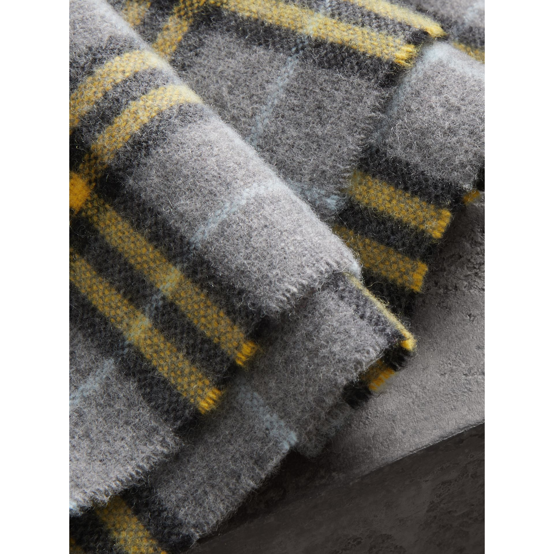 Check Cashmere Scarf in Storm Grey | Burberry - gallery image 1