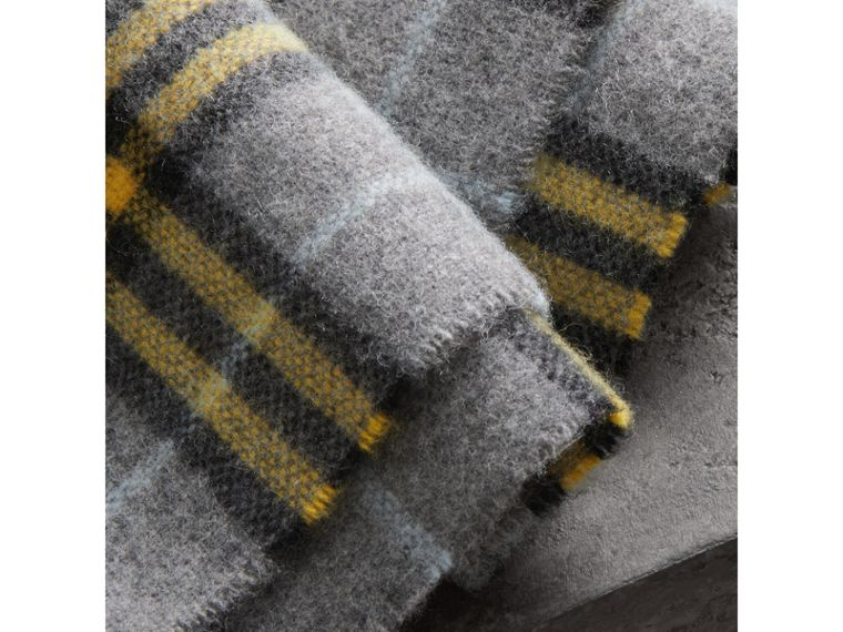 Check Cashmere Scarf in Storm Grey | Burberry - cell image 1