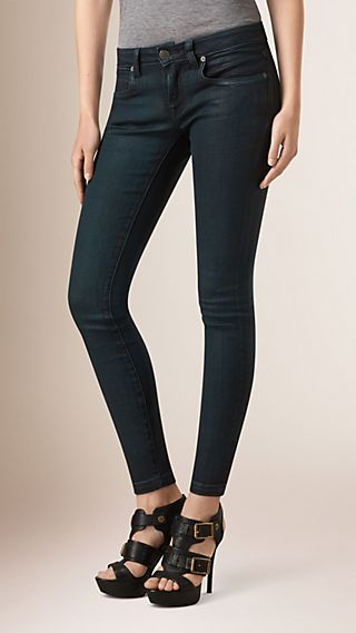 Skinny Fit Low-rise Deep Indigo Jeans