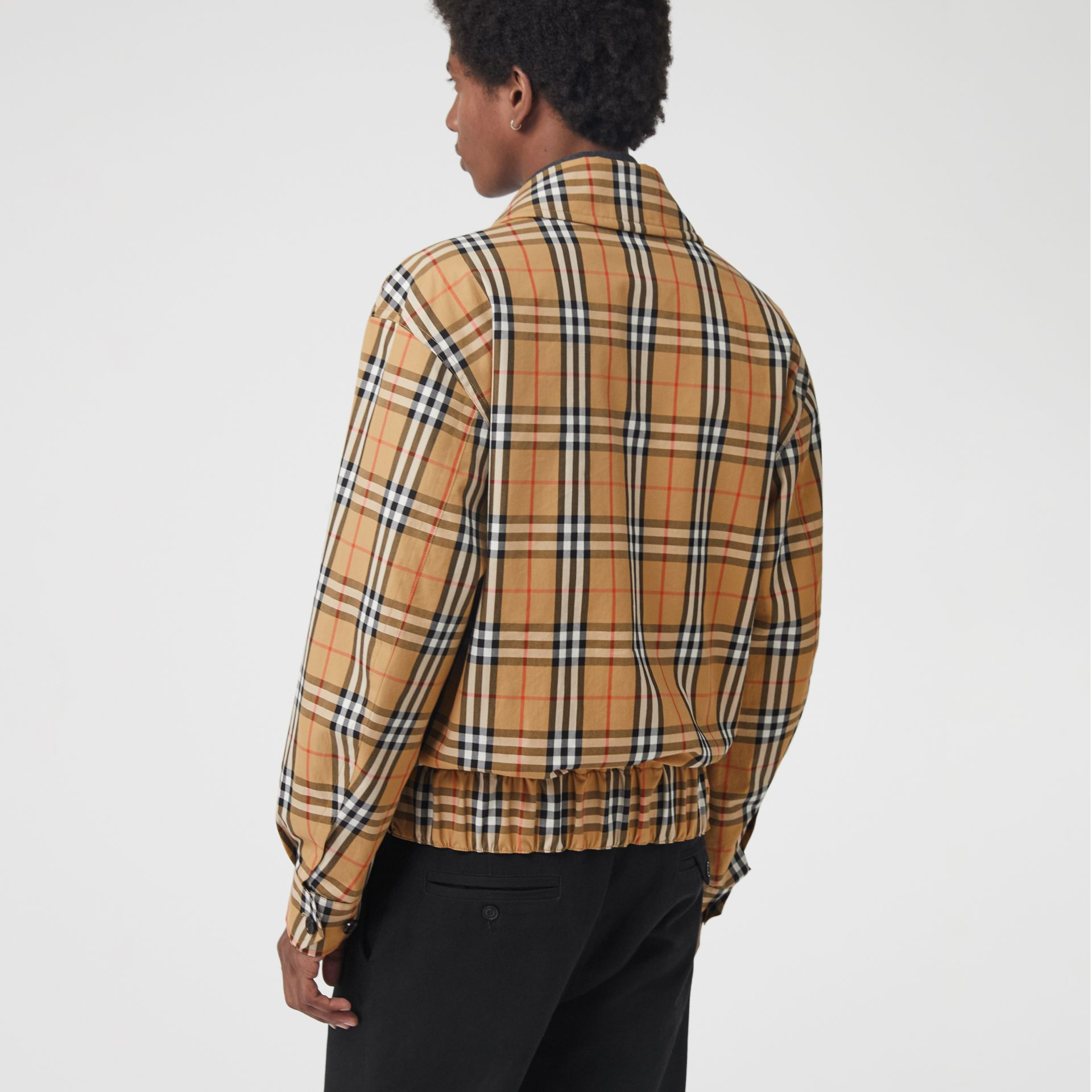 Archive Scarf Print Harrington Jacket in Antique Yellow - Men | Burberry Canada - gallery image 2