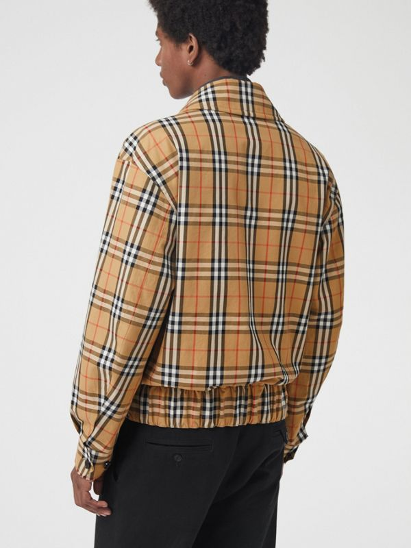 Archive Scarf Print Harrington Jacket in Antique Yellow - Men | Burberry - cell image 2