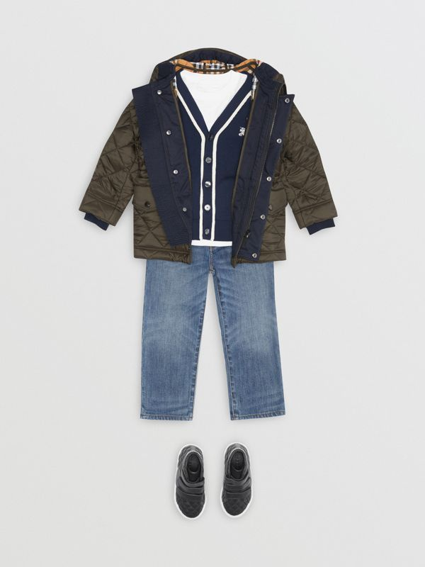 Diamond Quilted Hooded Jacket in Oregano - Boy | Burberry - cell image 2