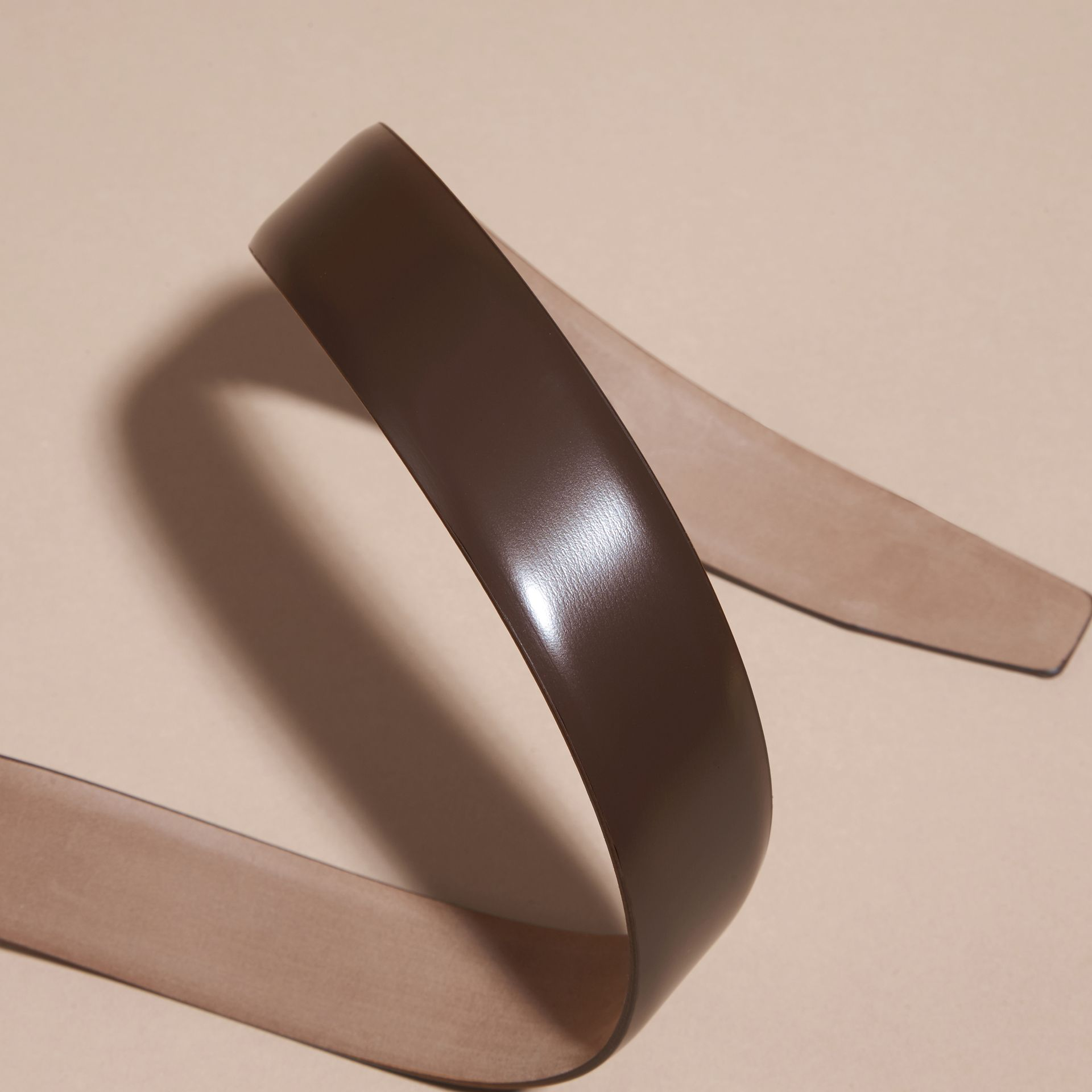 Bridle Leather Belt in Bitter Chocolate - Men | Burberry - gallery image 3