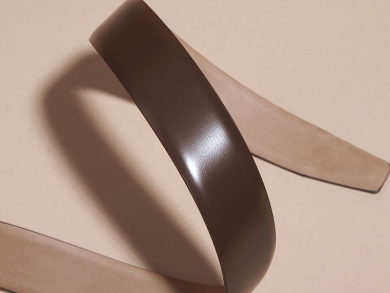 Bridle Leather Belt in Bitter Chocolate - Men | Burberry - cell image 2