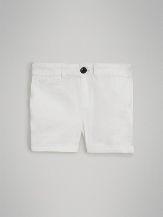 Bermuda chino de sarja de algodão (Branco) | Burberry - cell image 2