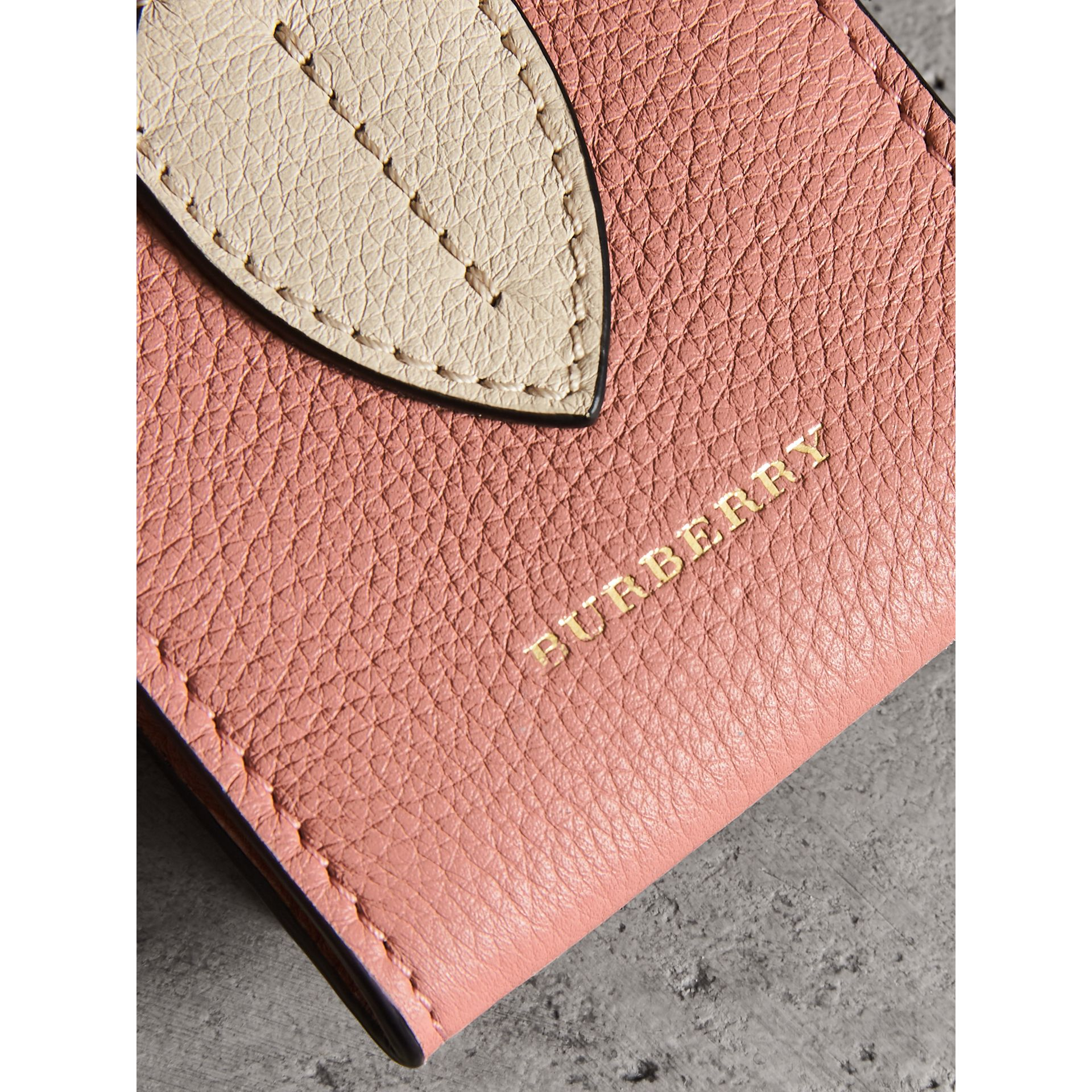 Small Square Leather Coin Case Charm in Dusty Rose/limestone - Women | Burberry - gallery image 1
