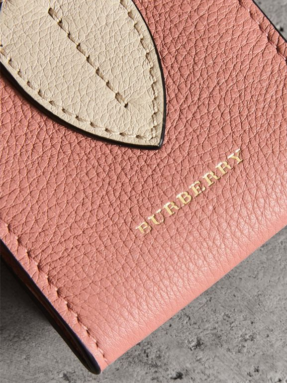 Small Square Leather Coin Case Charm in Dusty Rose/limestone - Women | Burberry United States - cell image 1