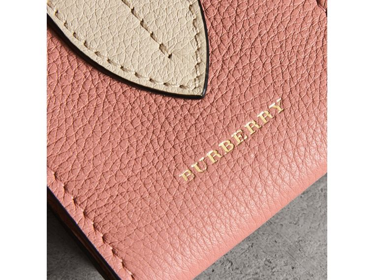 Small Square Leather Coin Case Charm in Dusty Rose/limestone - Women | Burberry - cell image 1