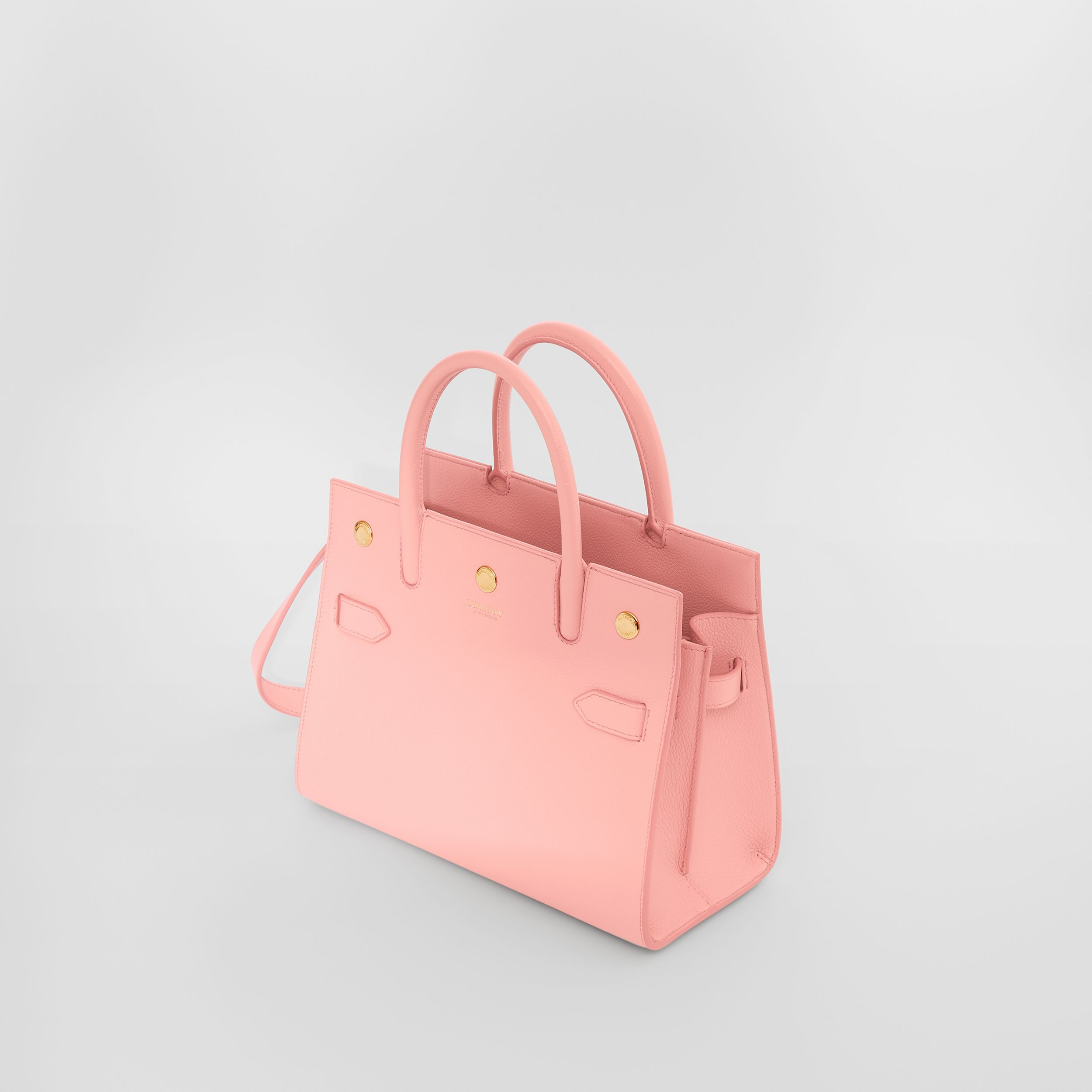 Borsa Title mini in pelle con due manici (Rosa Fard) - Donna | Burberry - 4