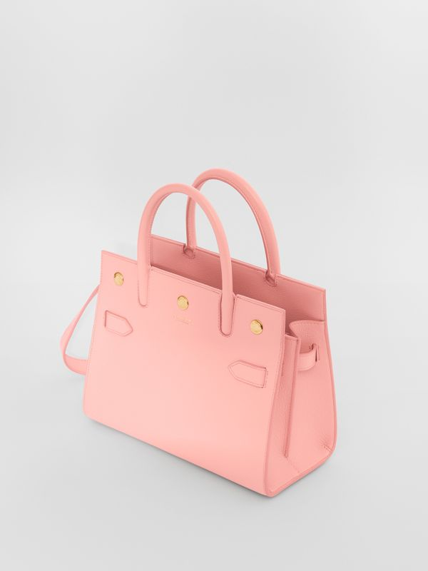 Mini Leather Two-handle Title Bag in Blush Pink - Women | Burberry United Kingdom - cell image 3