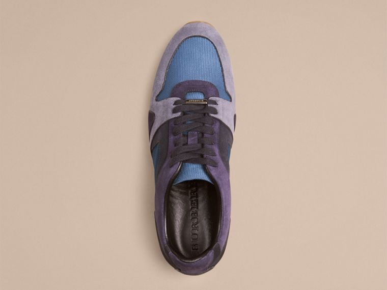 Vintage blue The Field Sneaker in Colour Block Suede and Mesh Vintage Blue - cell image 1