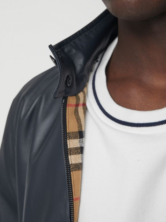 Lambskin Harrington Jacket in Navy - Men | Burberry - cell image 1