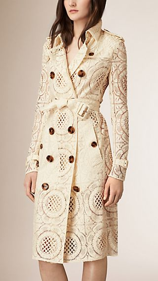 Floral English Lace Trench Coat