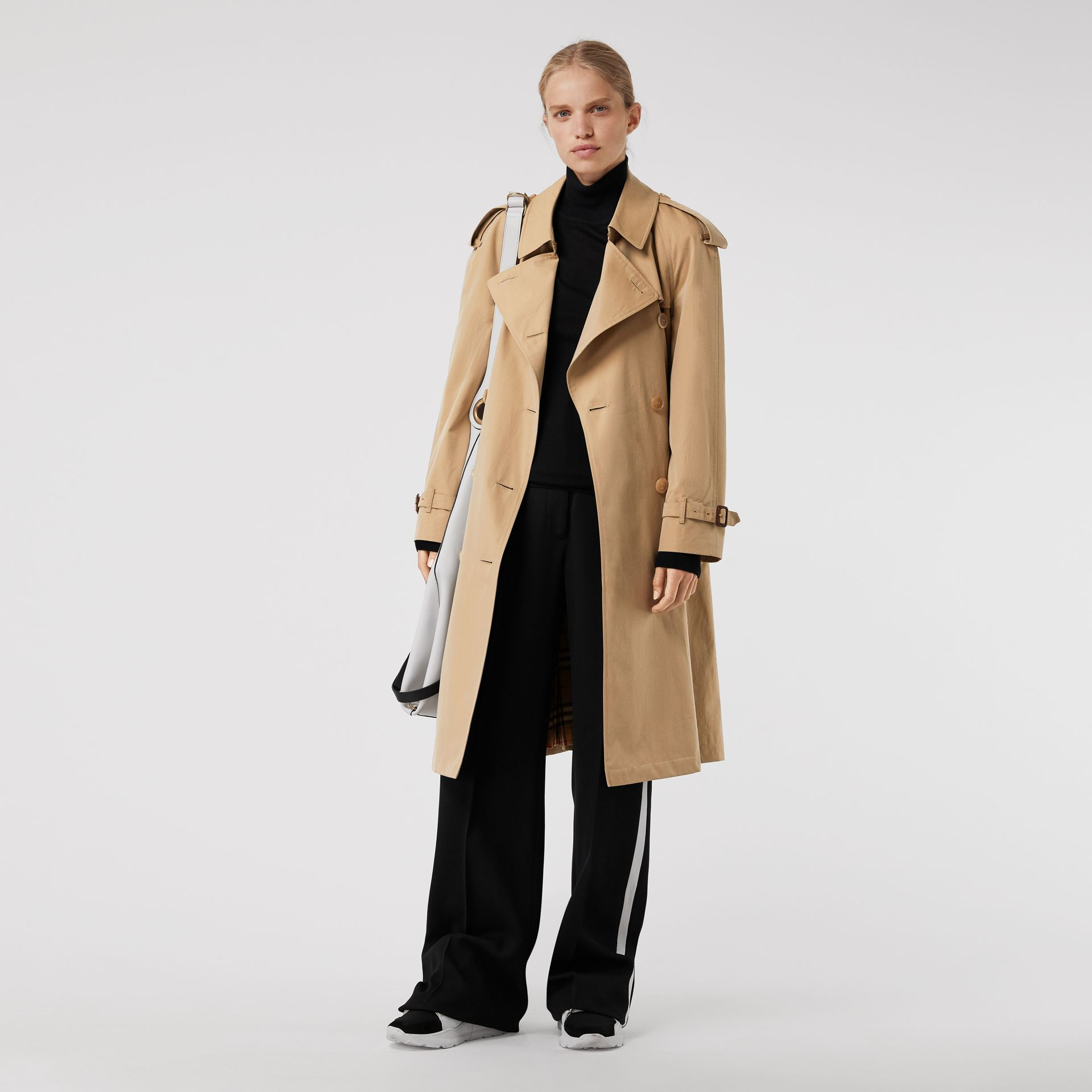 The Westminster Heritage Trench Coat in Honey - Women | Burberry Singapore - gallery image 7