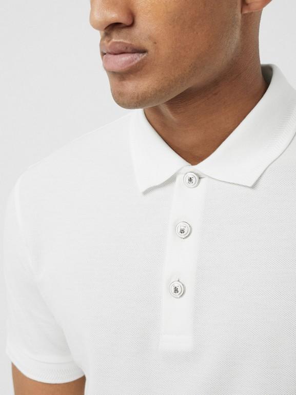 Cotton Piqué Polo Shirt in White - Men | Burberry - cell image 1