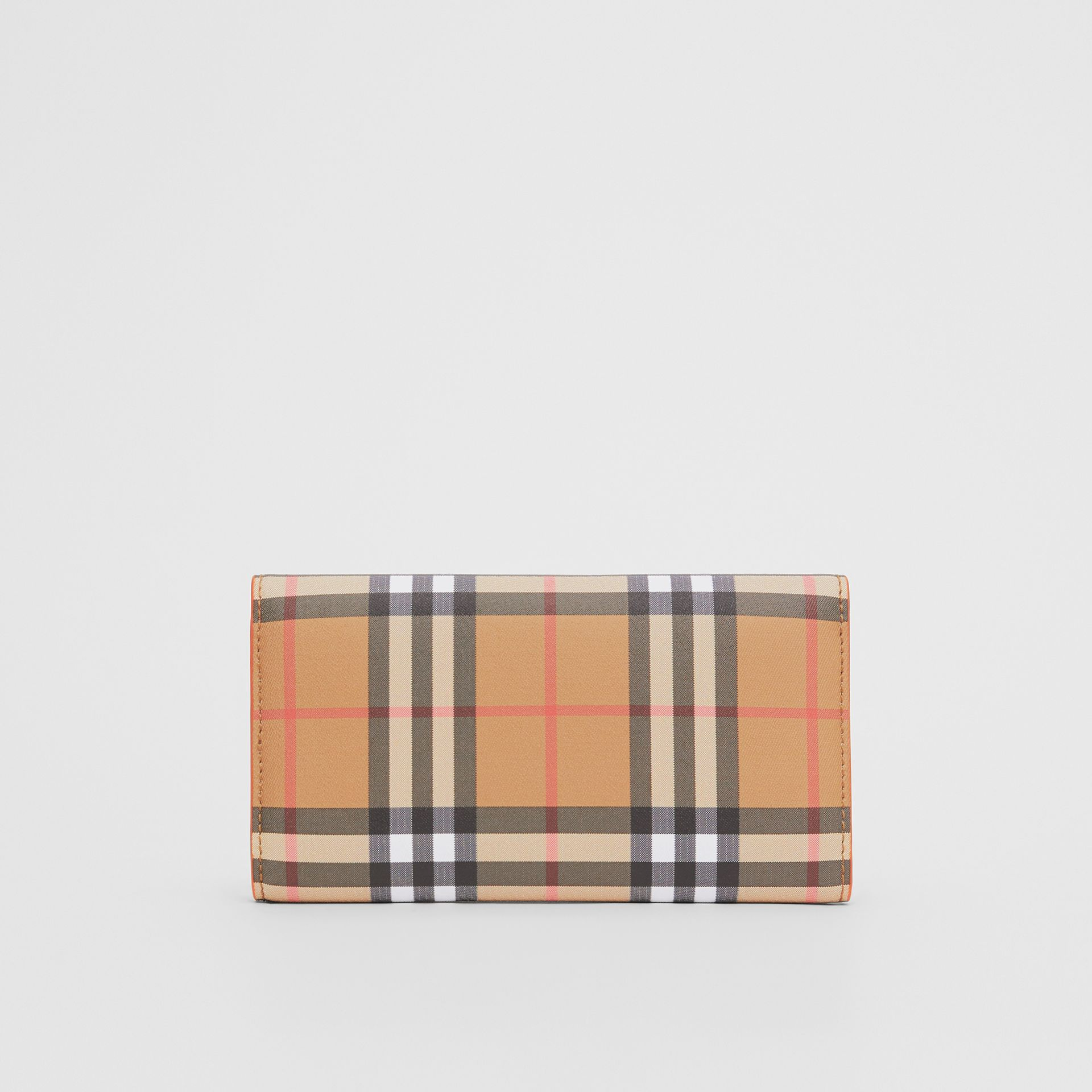 Vintage Check Continental Wallet with Zip Card Case in Clementine - Women | Burberry Canada - gallery image 5