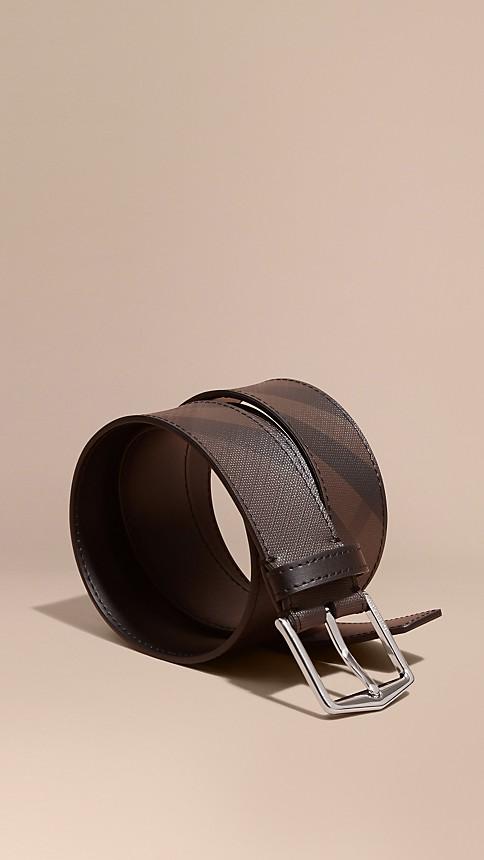 Leather Trim London Check Belt