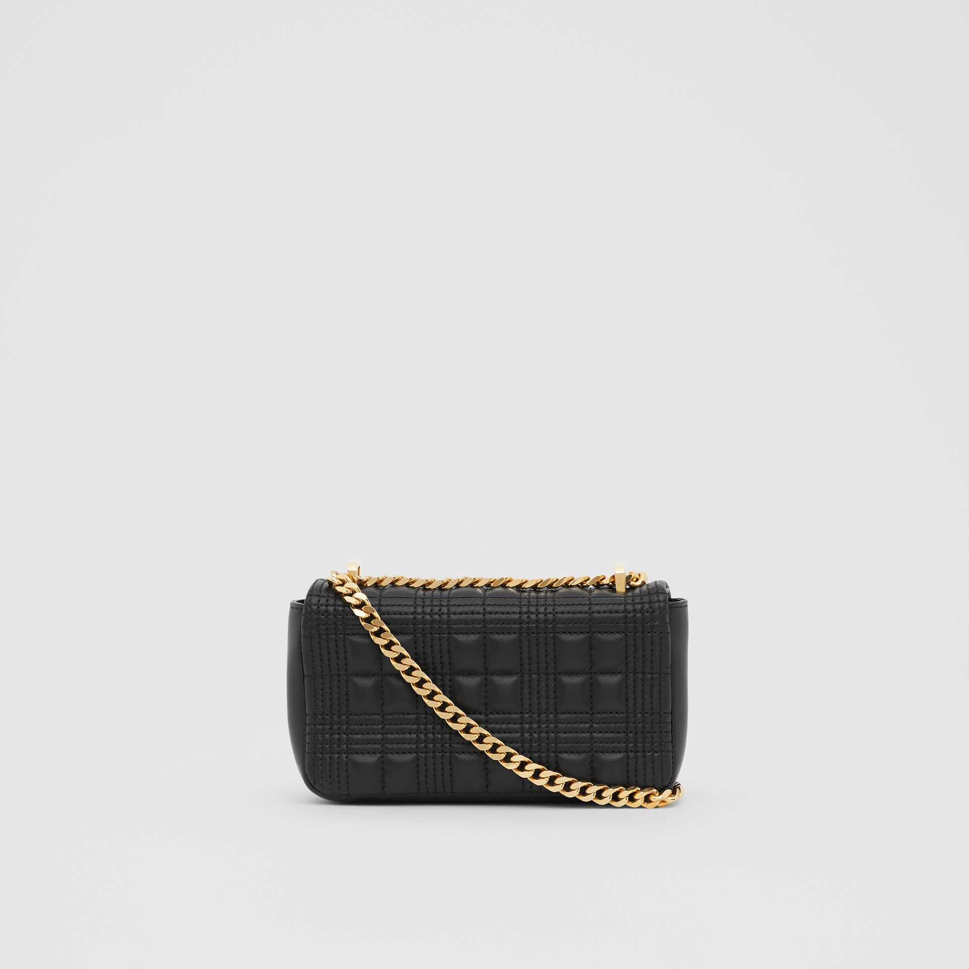 Mini Quilted Lambskin Lola Bag in Black/light Gold - Women | Burberry - gallery image 7