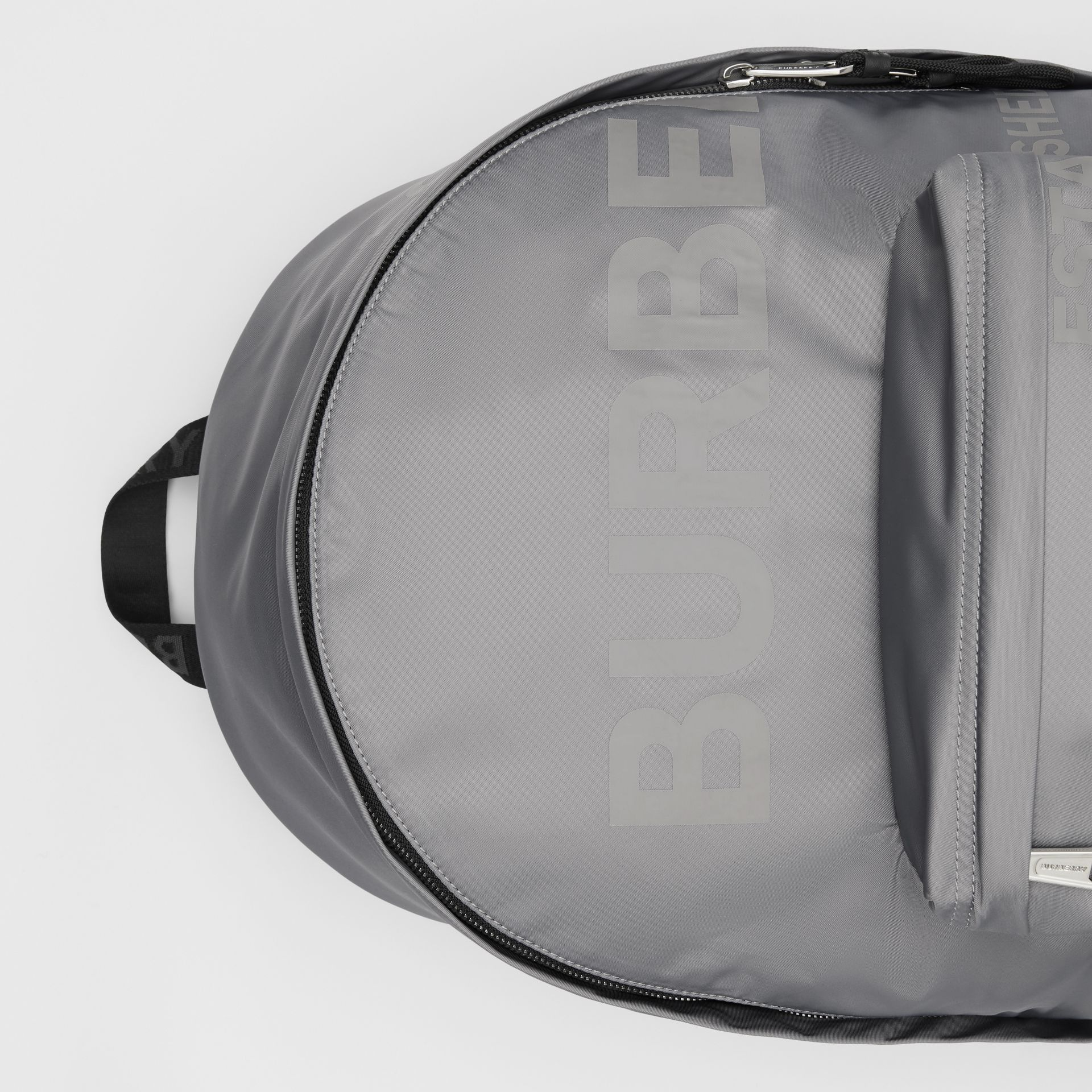 Horseferry Print ECONYL® Backpack in Cloud Grey | Burberry United States - gallery image 1
