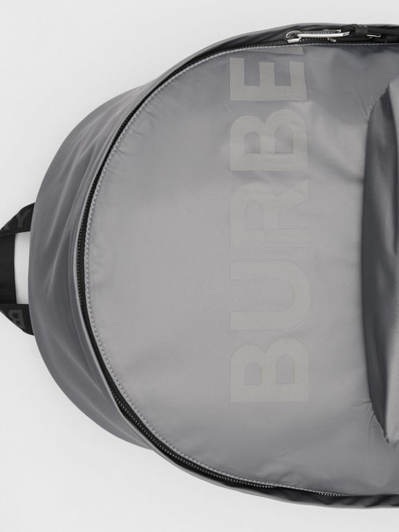 Horseferry Print ECONYL® Backpack in Cloud Grey | Burberry United States - cell image 1