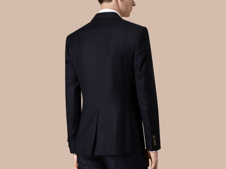 Modern Fit Virgin Wool Half-canvas Jacket in Navy - Men | Burberry - cell image 2