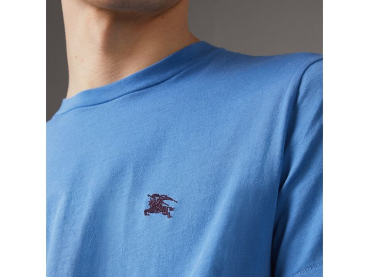 Cotton Jersey T-shirt in Light Azure - Men | Burberry United States - cell image 1