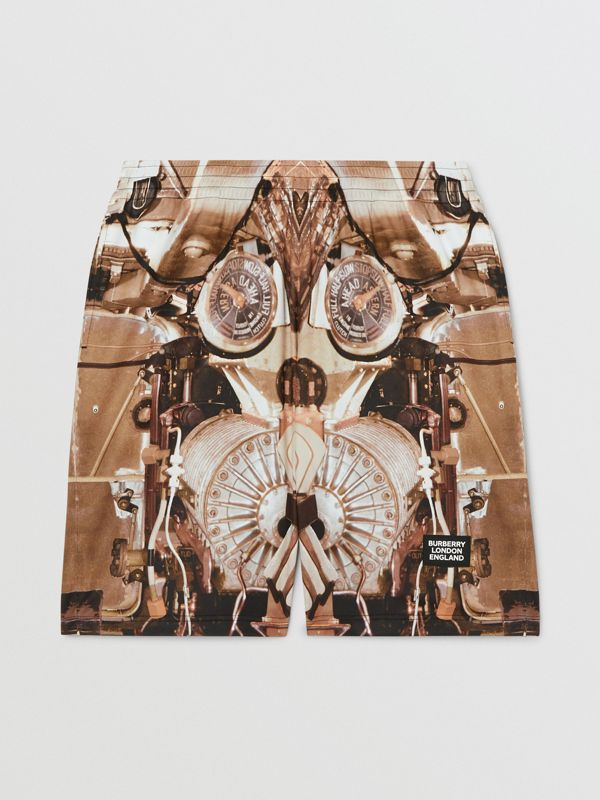 Submarine Print Mesh Shorts in Bronze - Men | Burberry - cell image 3