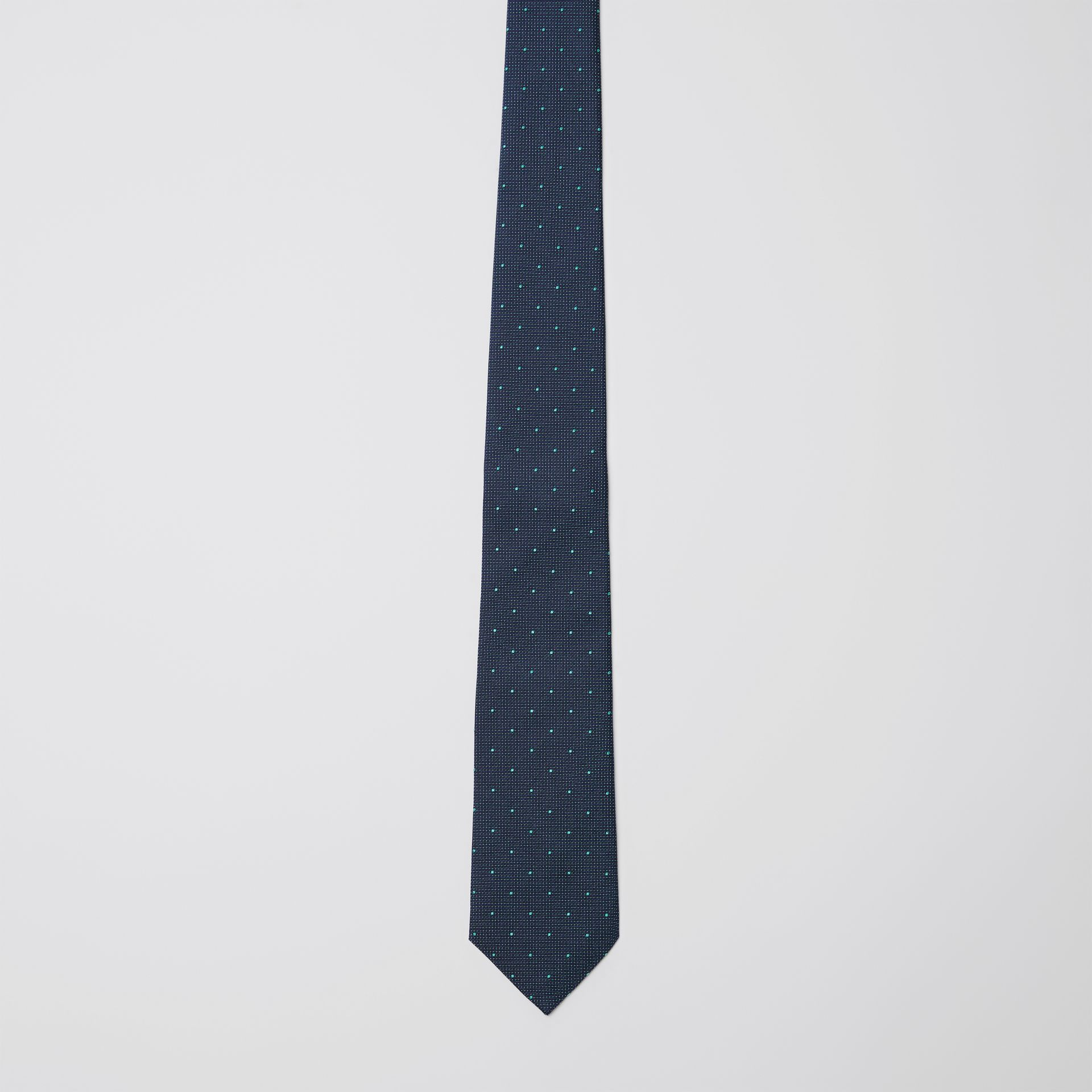 Modern Cut Polka Dot Silk Tie in Mineral Blue - Men | Burberry United States - gallery image 4