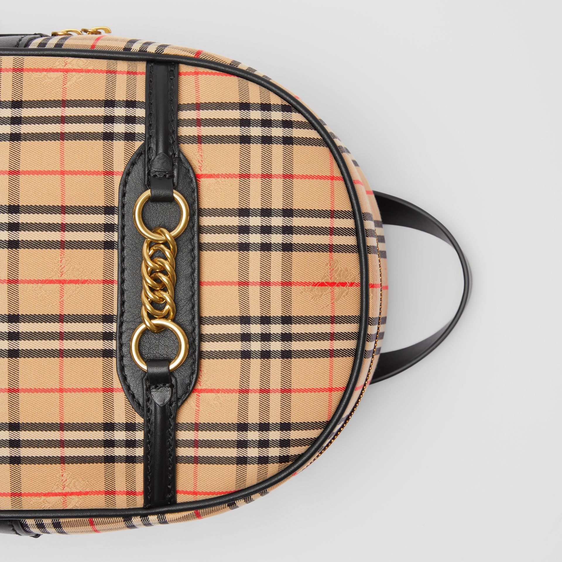 The 1983 Check Link Backpack in Black - Women | Burberry - gallery image 1