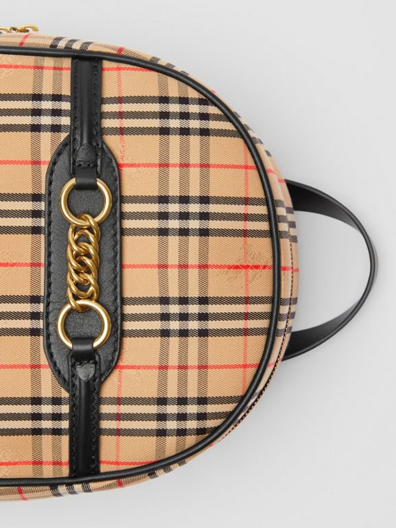 The 1983 Check Link Backpack in Black - Women | Burberry - cell image 1