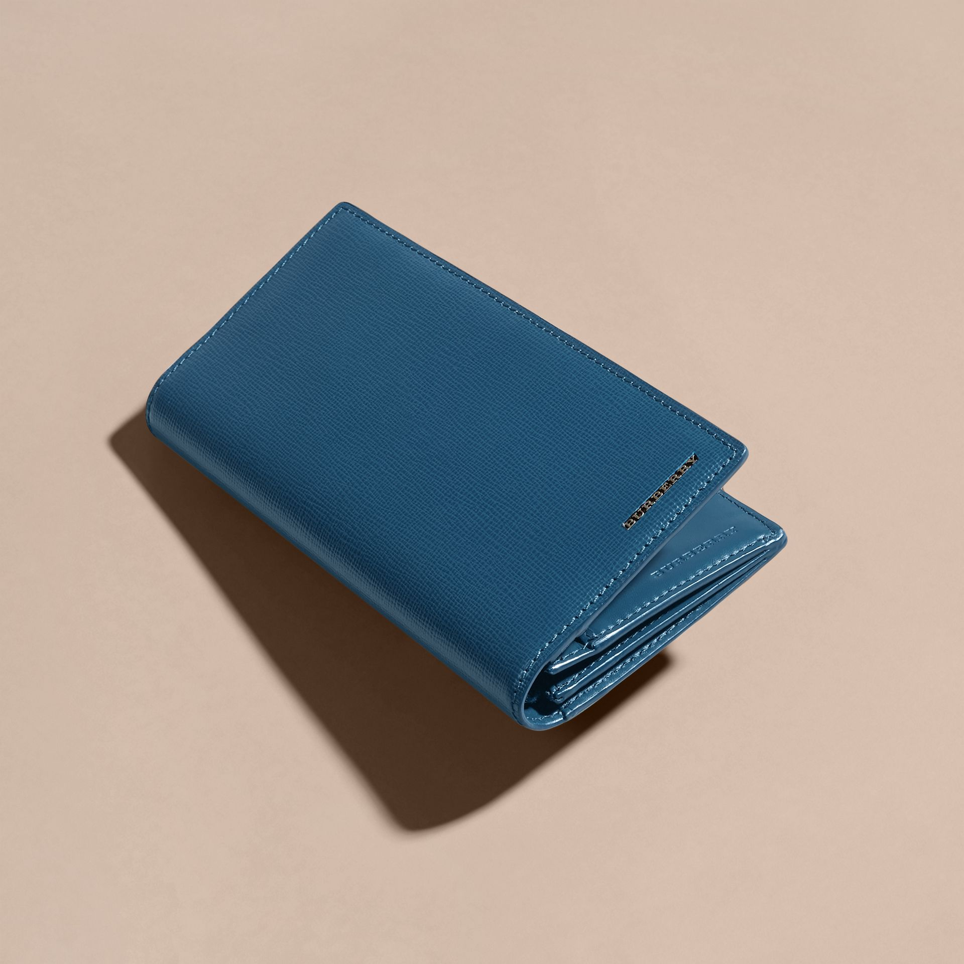London Leather Continental Wallet in Mineral Blue - gallery image 4