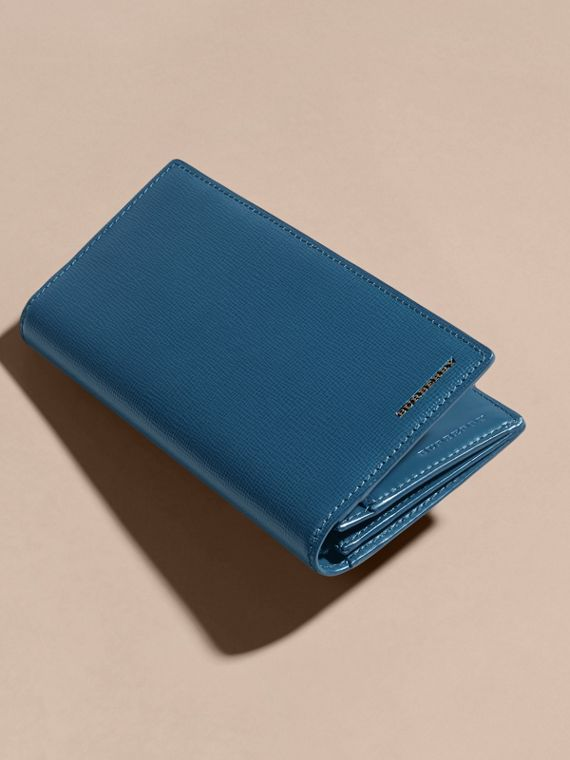 London Leather Continental Wallet in Mineral Blue - cell image 3