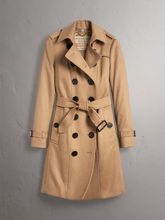 Sandringham Fit Cashmere Trench Coat in Camel - Women | Burberry Australia - cell image 3