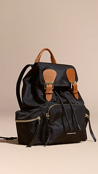 Zaino The Rucksack medio in nylon tecnico e pelle