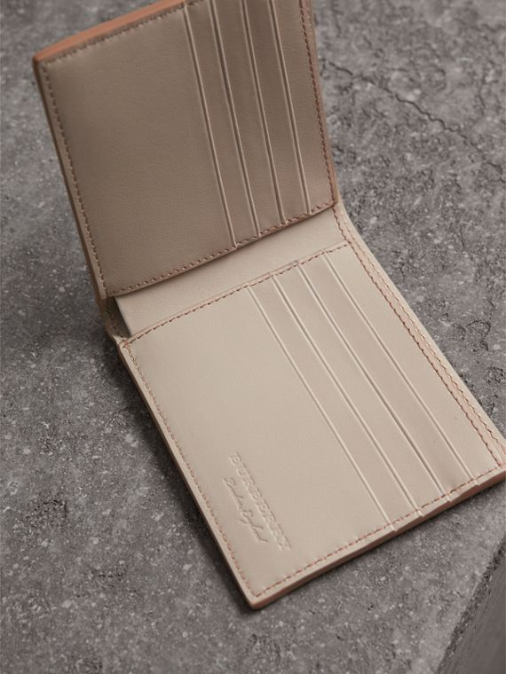 Embossed Leather Bifold Wallet in Chino - Men | Burberry - cell image 3