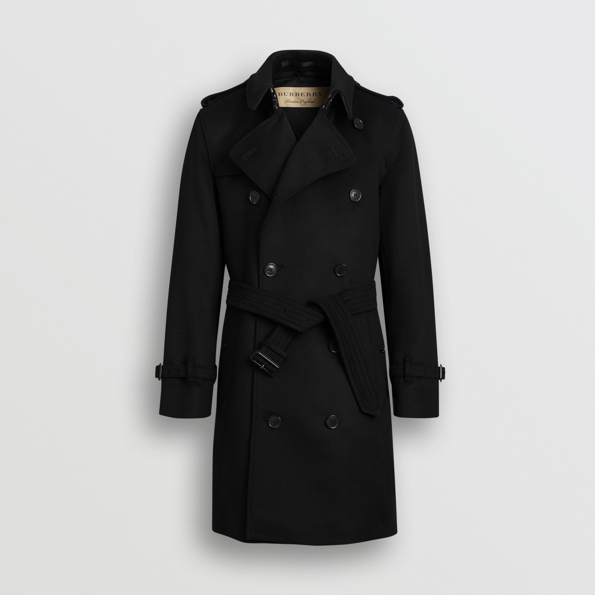 Wool Cashmere Trench Coat in Black - Men | Burberry United States - gallery image 3