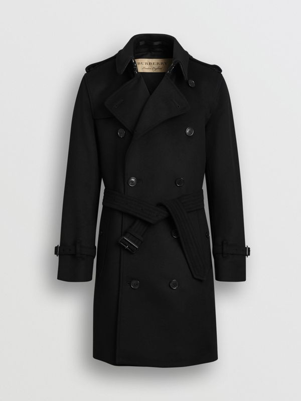 Wool Cashmere Trench Coat in Black - Men | Burberry United States - cell image 3