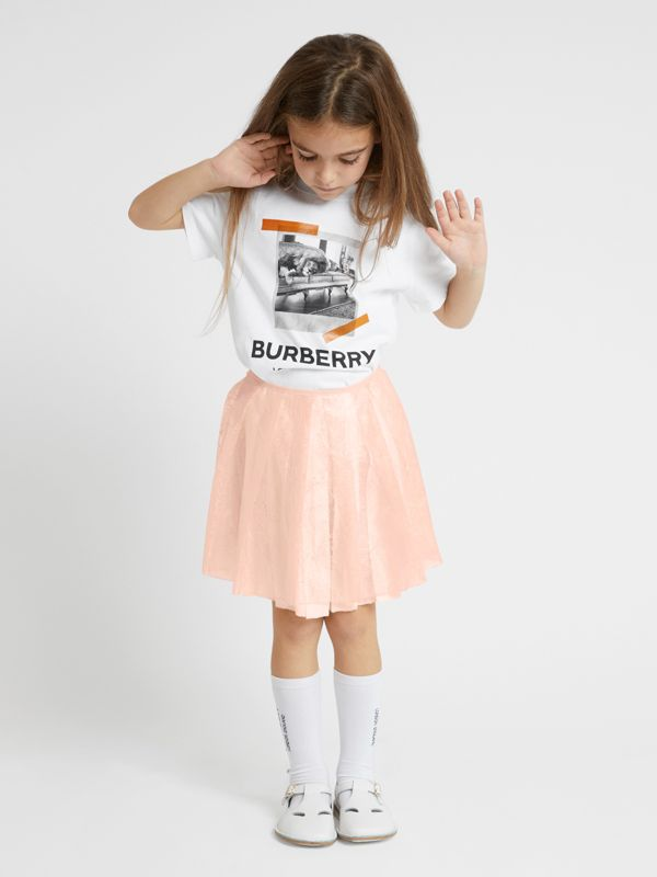 Vintage Polaroid Print Cotton T-shirt in White - Children | Burberry - cell image 2