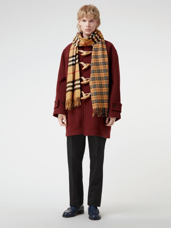 Gosha x Burberry Check Cashmere Double Scarf in Antique Yellow | Burberry - cell image 3