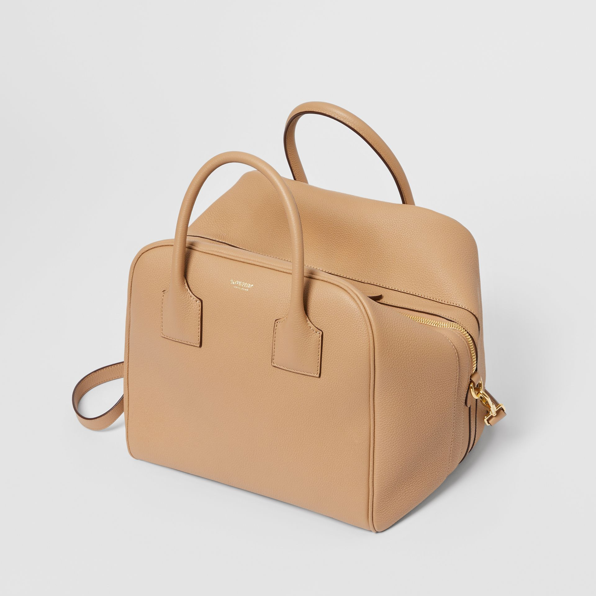Medium Leather Cube Bag in Biscuit - Women | Burberry - gallery image 3