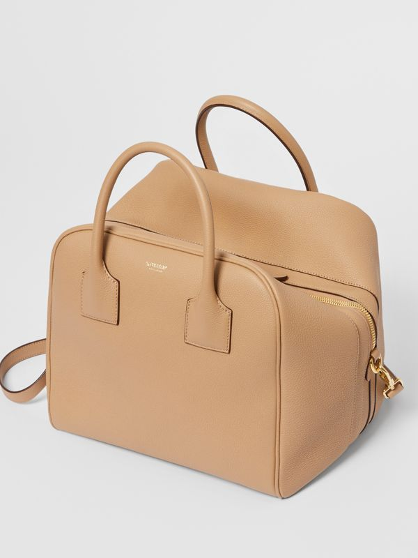 Medium Leather Cube Bag in Biscuit - Women | Burberry - cell image 3