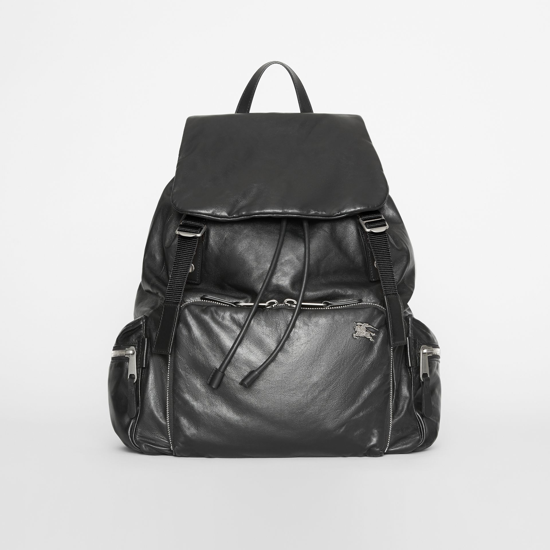 Sac The Rucksack extra-large en cuir nappa (Noir) - Homme | Burberry - photo de la galerie 0
