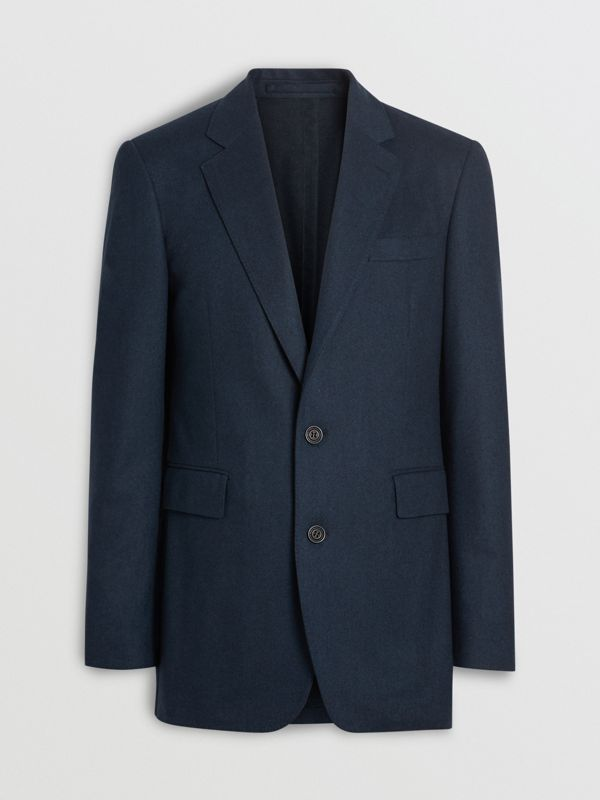 Modern Fit Wool Cashmere Tailored Jacket in Dark Teal - Men | Burberry United Kingdom - cell image 3
